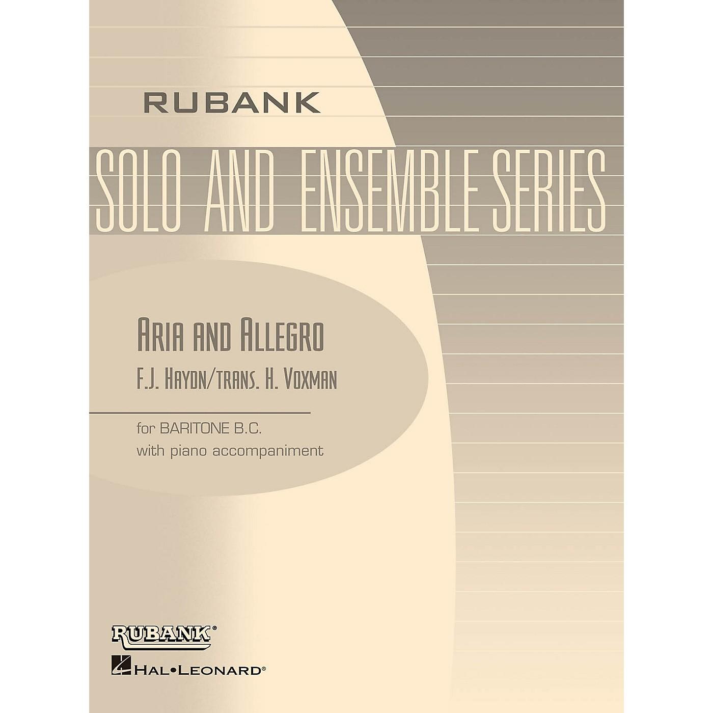 Rubank Publications Aria and Allegro (Baritone B.C. Solo with Piano - Grade 3) Rubank Solo/Ensemble Sheet Series thumbnail