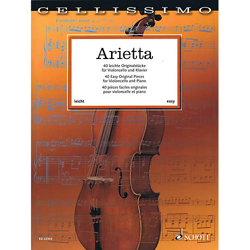 Schott Arietta - 40 Easy Original Pieces for Cello and Piano String Series Softcover thumbnail