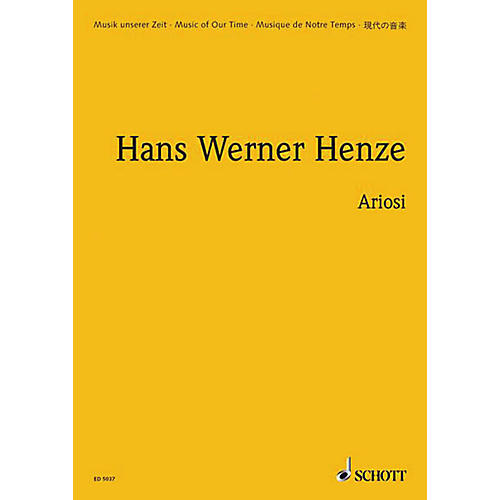 Schott Ariosi (Study Score) Schott Series Composed by Hans-Werner Henze thumbnail