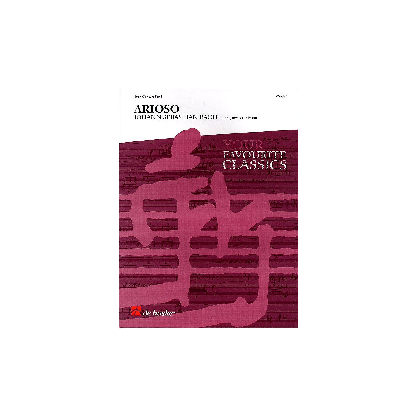 De Haske Music Arioso (Concert Band) Concert Band Level 2 Composed by Johann Sebastian Bach Arranged by Jacob de Haan thumbnail