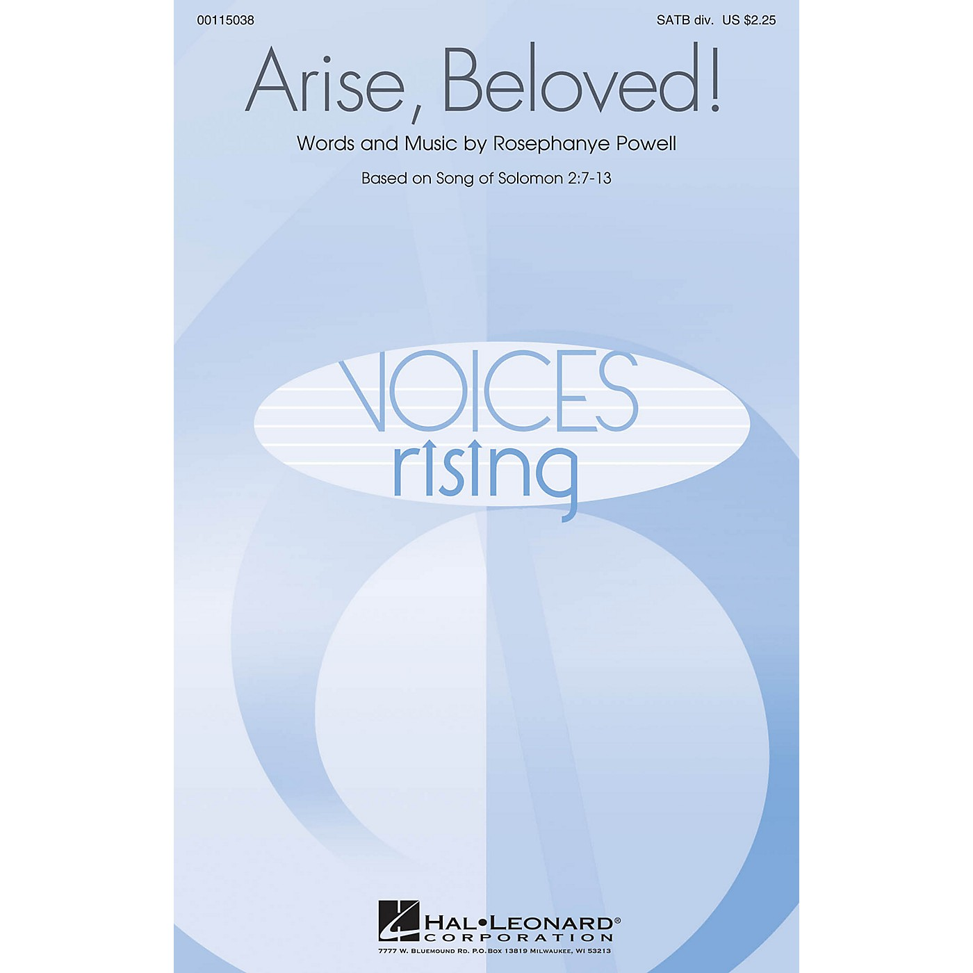 Hal Leonard Arise, Beloved! SATB Divisi composed by Rosephanye Powell thumbnail