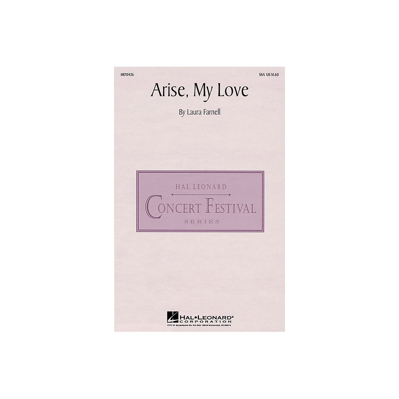 Hal Leonard Arise, My Love SSA composed by Laura Farnell thumbnail