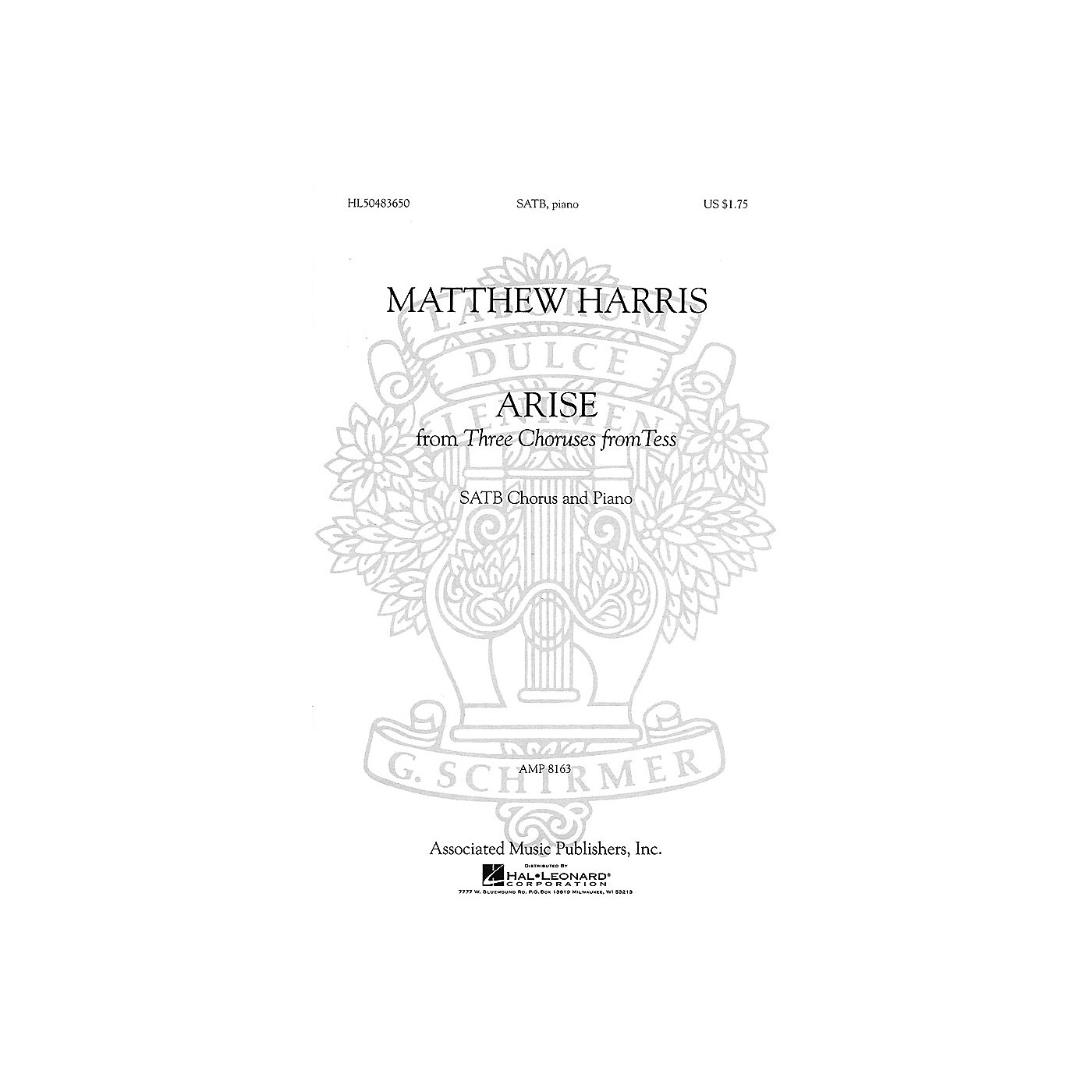 Associated Arise (SSATB and Piano (w/Soloists)) SSATB composed by Matthew Harris thumbnail