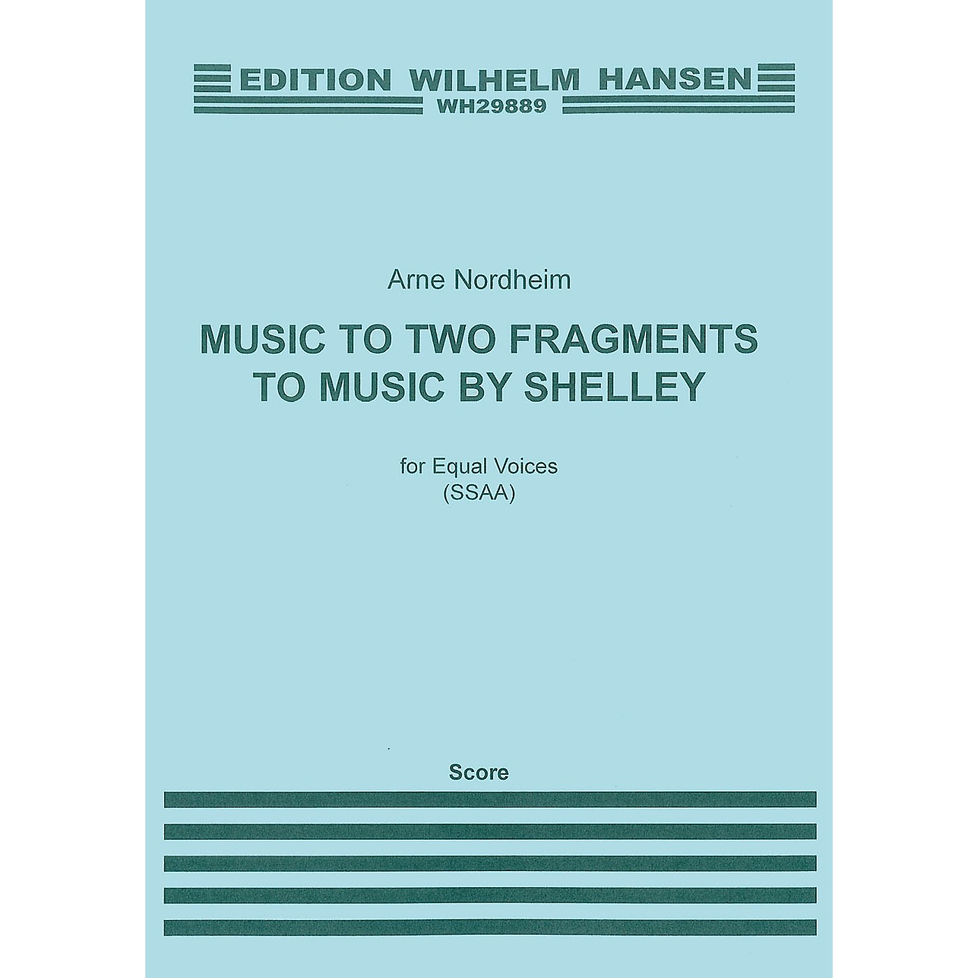 Music Sales Arne Nordheim: Music To Two Fragments By Shelley CHORAL SCORE thumbnail