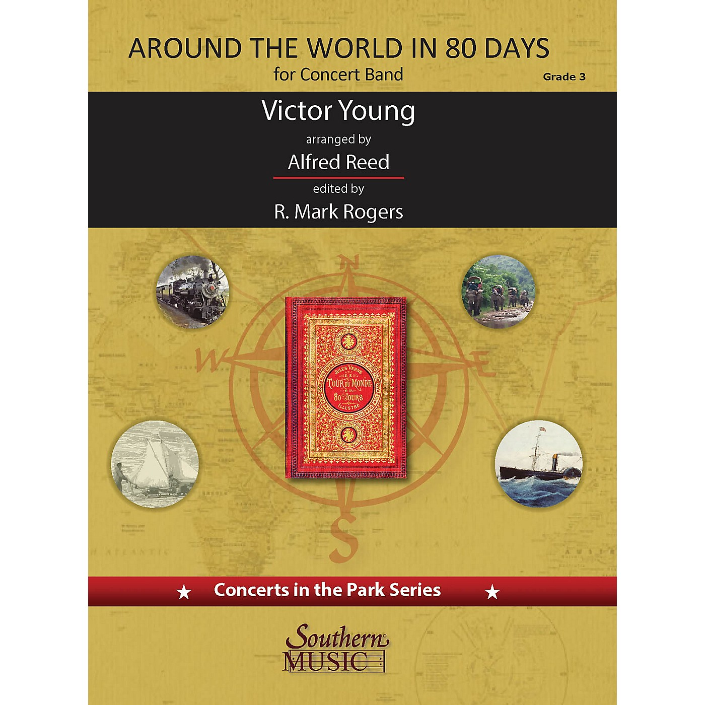 Southern Around the World in 80 Days (Score and Parts) Concert Band Level 3 arranged by Alfred Reed thumbnail