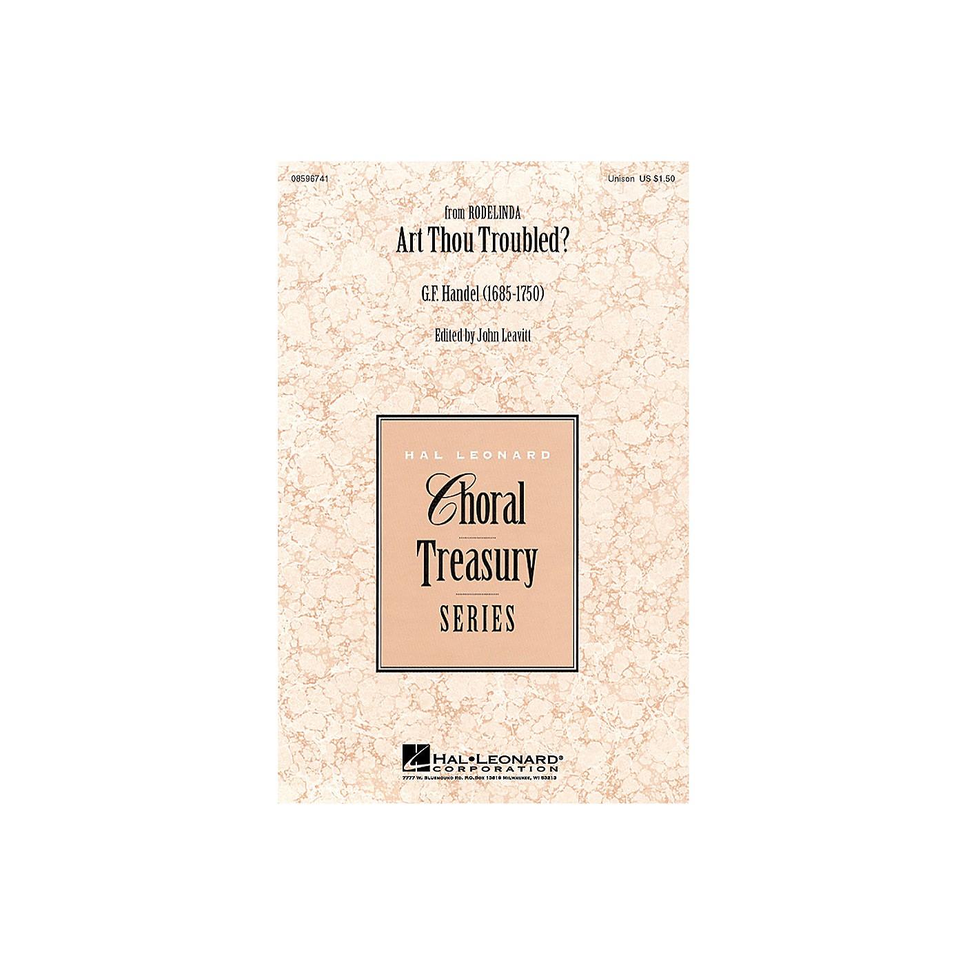 Hal Leonard Art Thou Troubled? UNIS arranged by John Leavitt thumbnail