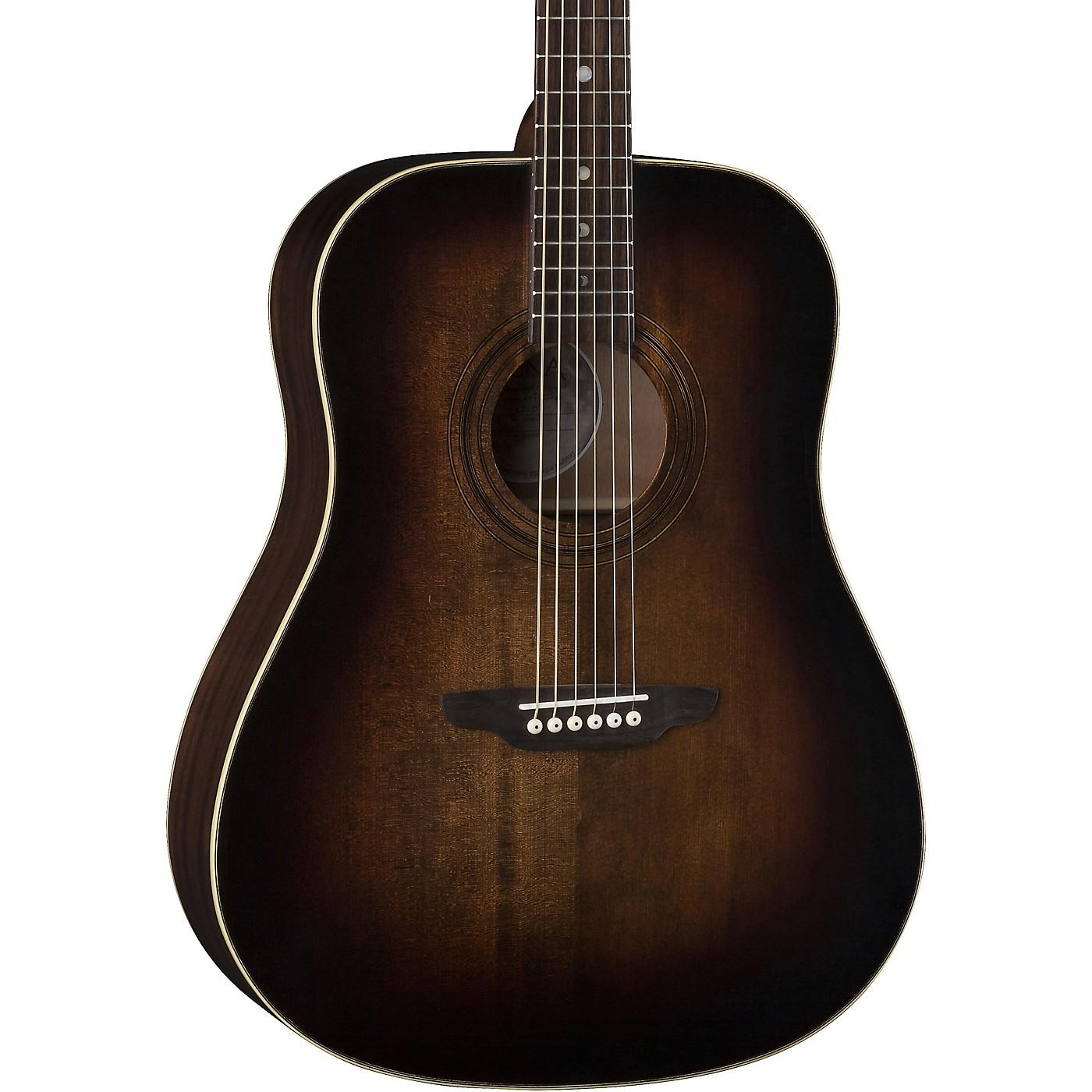 Luna Guitars Art Vintage Dread Solid Top Distressed Acoustic Guitar thumbnail