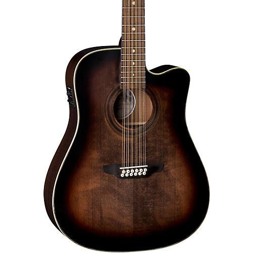 Luna Guitars Art Vintage Dreadnought Cutaway Acoustic-Electric 12-String Guitar thumbnail