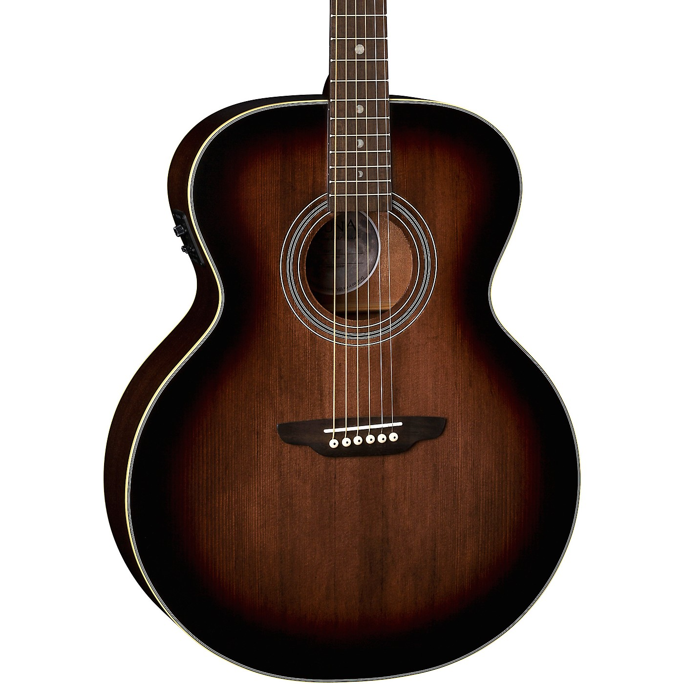 Luna Guitars Art Vintage Solid Top Jumbo Acoustic/Electric Guitar thumbnail