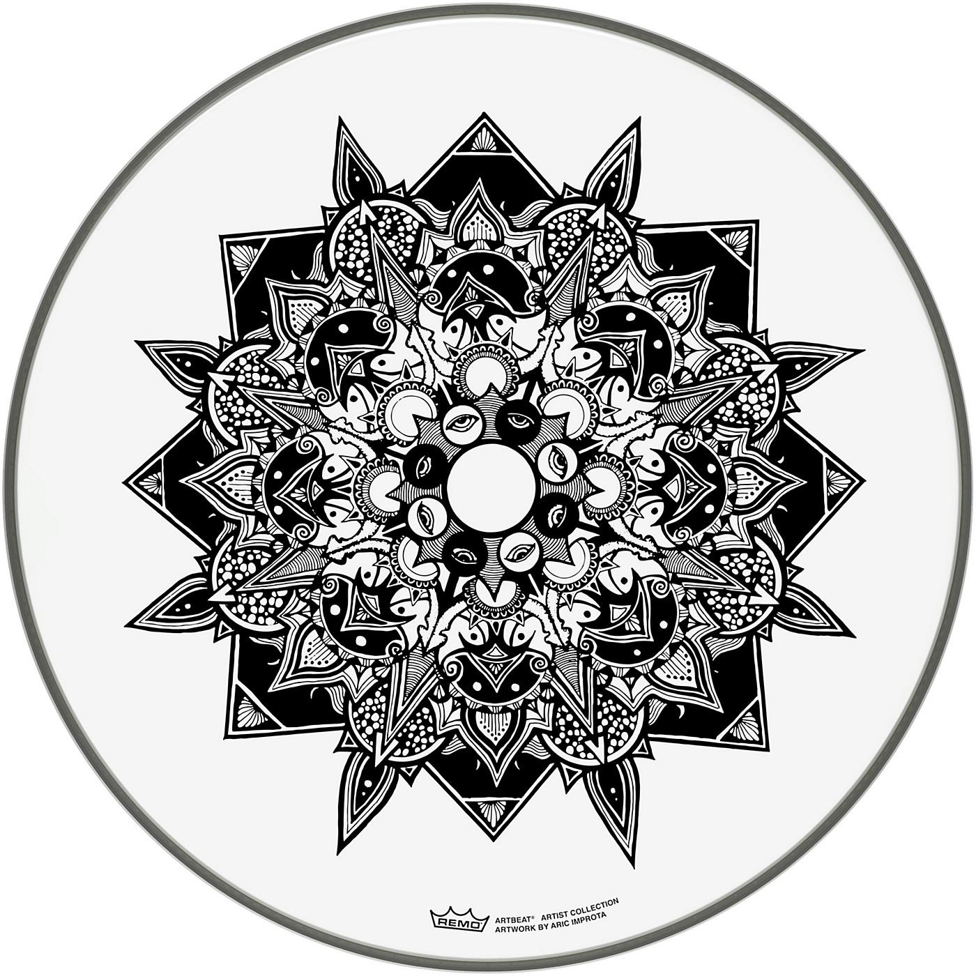 Remo ArtBEAT Aric Improta, Disillusion Artist Collection Drum Head, 16