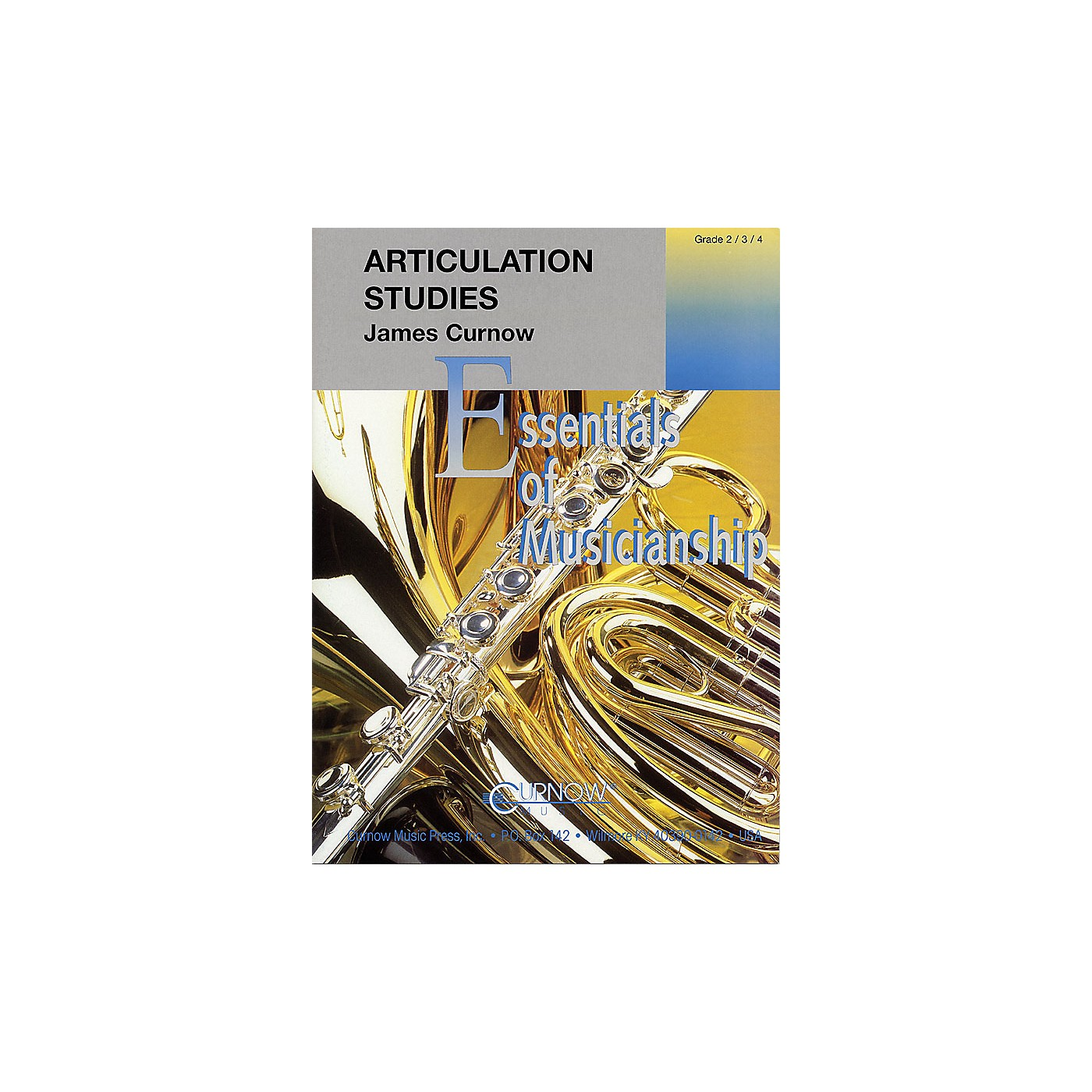 Curnow Music Articulation Studies (Grade 2 to 4 - Score and Parts) Concert Band Level 2-4 Composed by James Curnow thumbnail