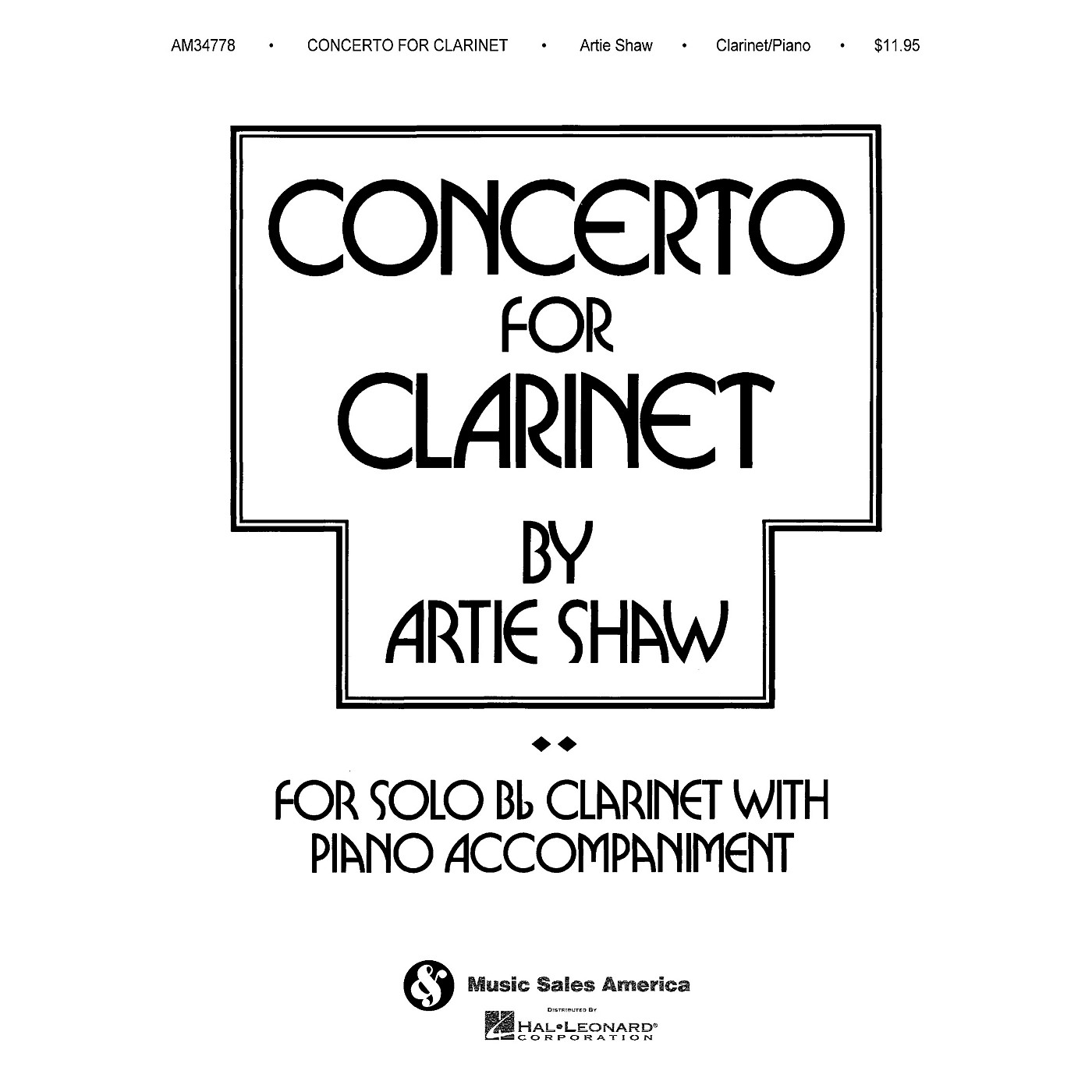 Music Sales Artie Shaw - Concerto for Clarinet Music Sales America Series Performed by Artie Shaw thumbnail