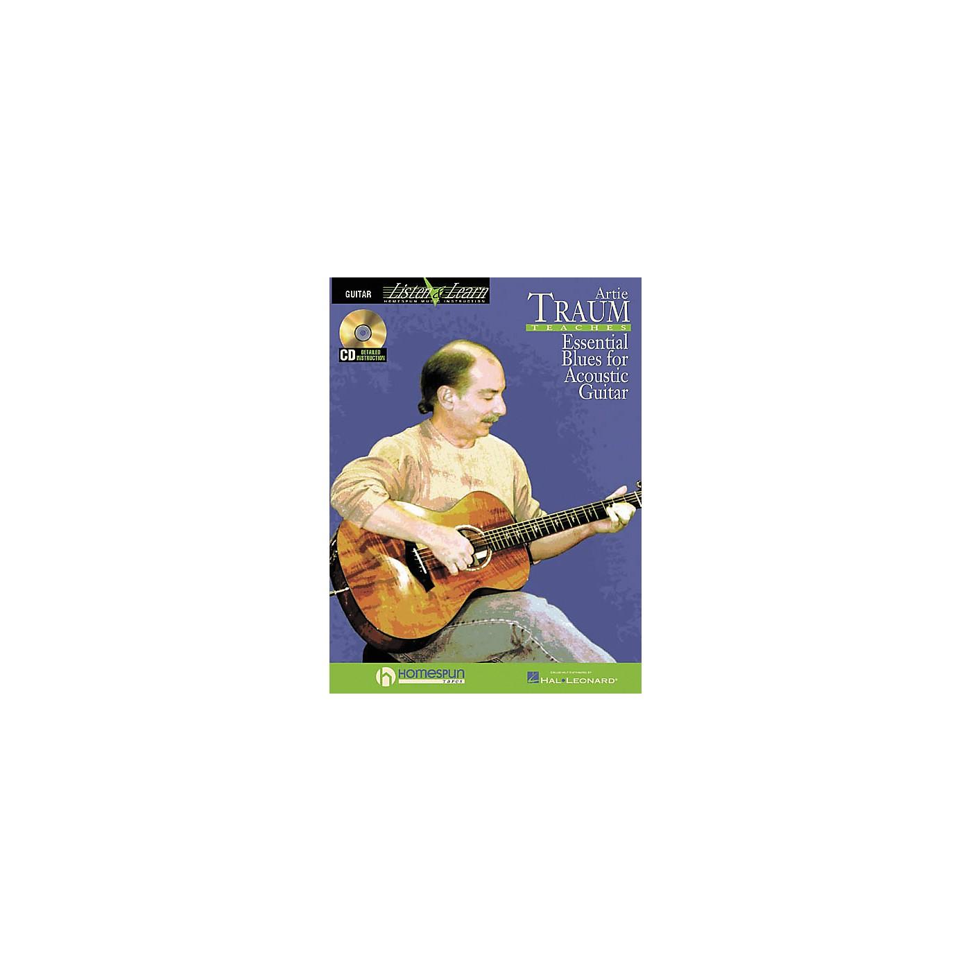 Homespun Artie Traum Teaches Essential Blues for Acoustic Guitar (Book/CD) thumbnail