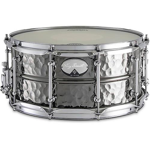 Dixon Artisan Bissonette Signature Black Nickel Plated Hammered Brass Snare Drum thumbnail