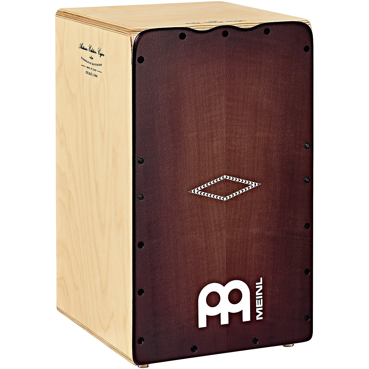 Meinl Artisan Edition Solea Line Cajon with Dark Red Burst Frontplate thumbnail