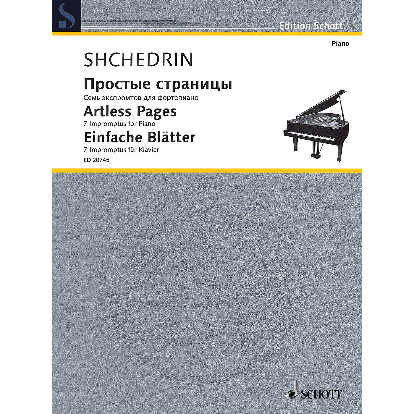 Schott Artless Pages (Seven Impromptus Piano) Schott Series thumbnail
