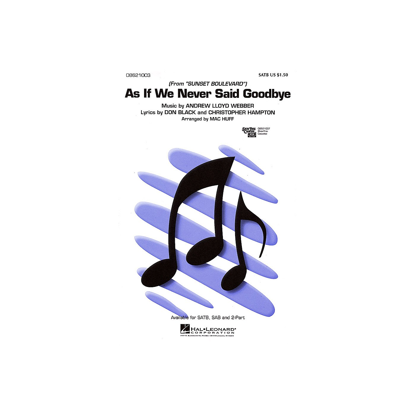 Hal Leonard As If We Never Said Goodbye (from Sunset Boulevard) SATB arranged by Mac Huff thumbnail