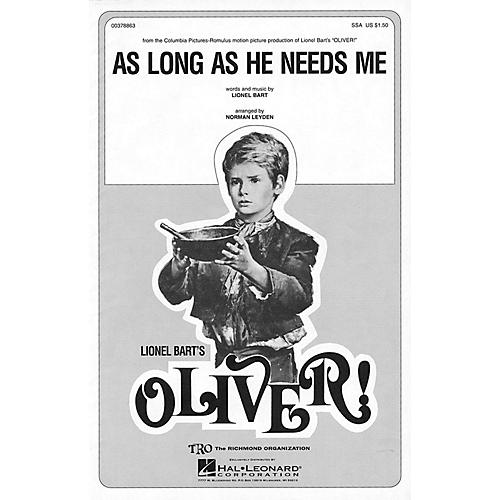TRO ESSEX Music Group As Long As He Needs Me (from Oliver) SSA Arranged by Norman Leyden thumbnail