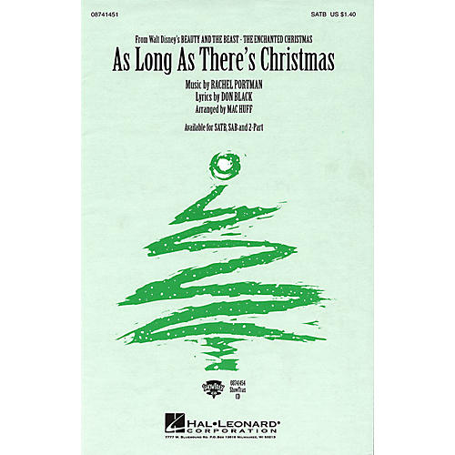 Hal Leonard As Long As There's Christmas (from Beauty and the Beast - The Enchanted Christmas) 2-Part by Mac Huff thumbnail