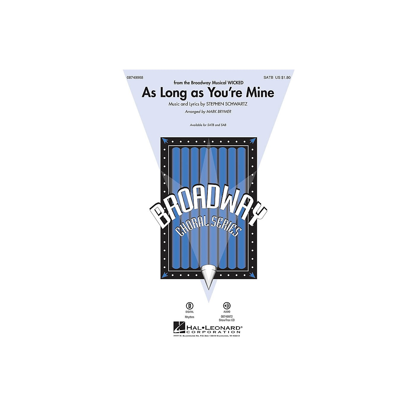 Hal Leonard As Long as You're Mine (from Wicked) SATB arranged by Mark Brymer thumbnail