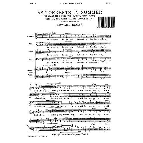 Novello As Torrents in Summer SATB Composed by Edward Elgar thumbnail