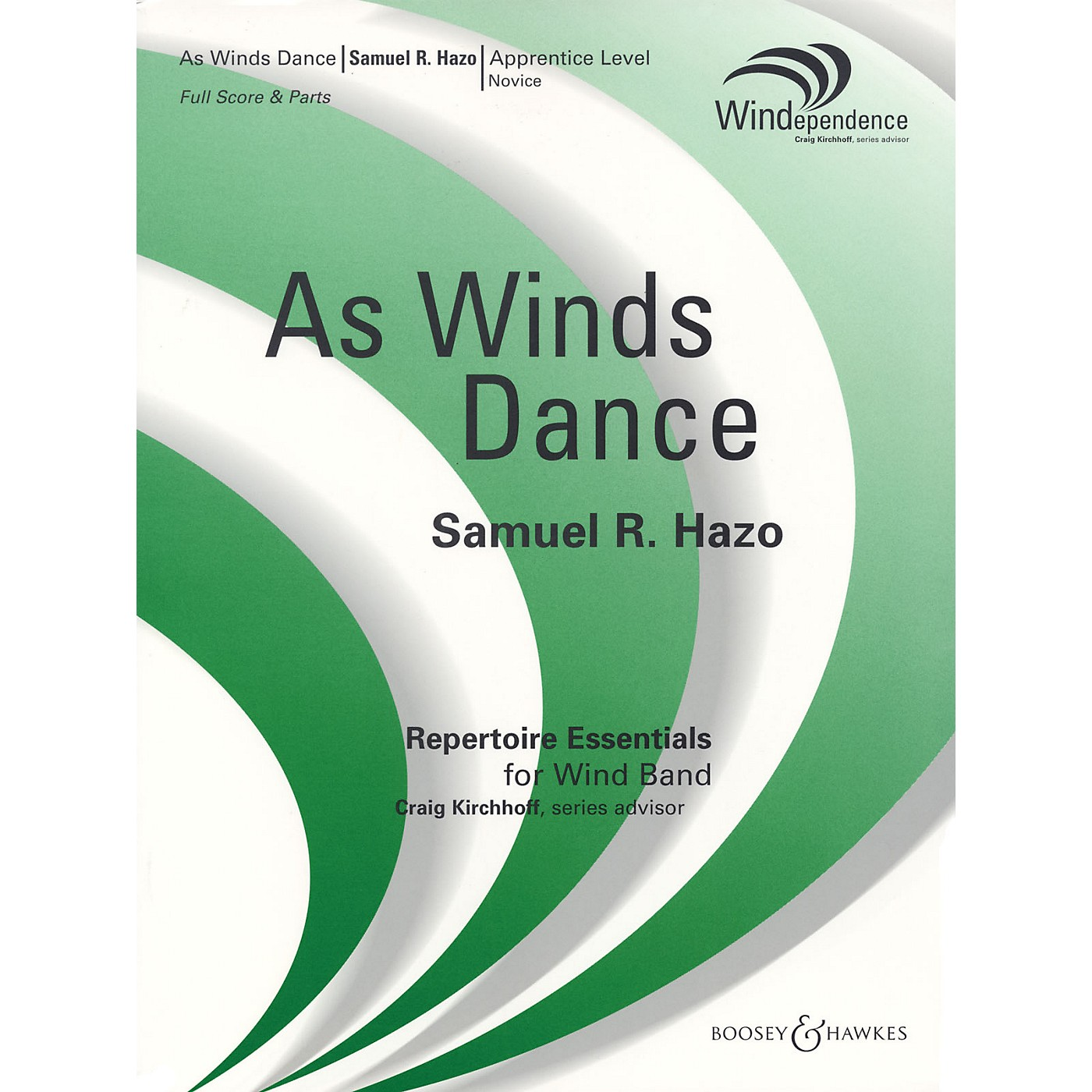 Boosey and Hawkes As Winds Dance (Score Only) Concert Band Composed by Samuel R. Hazo thumbnail