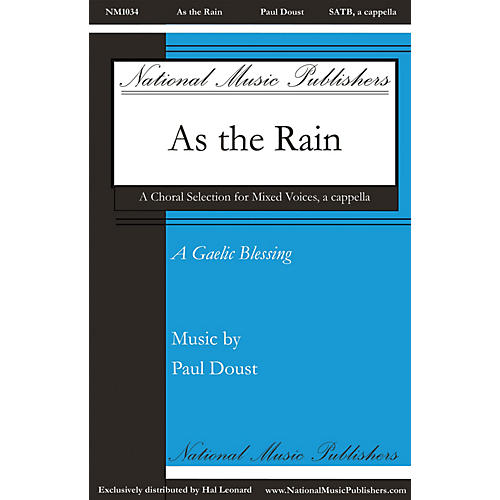 National Music Publishers As the Rain SATB a cappella composed by Paul Doust thumbnail