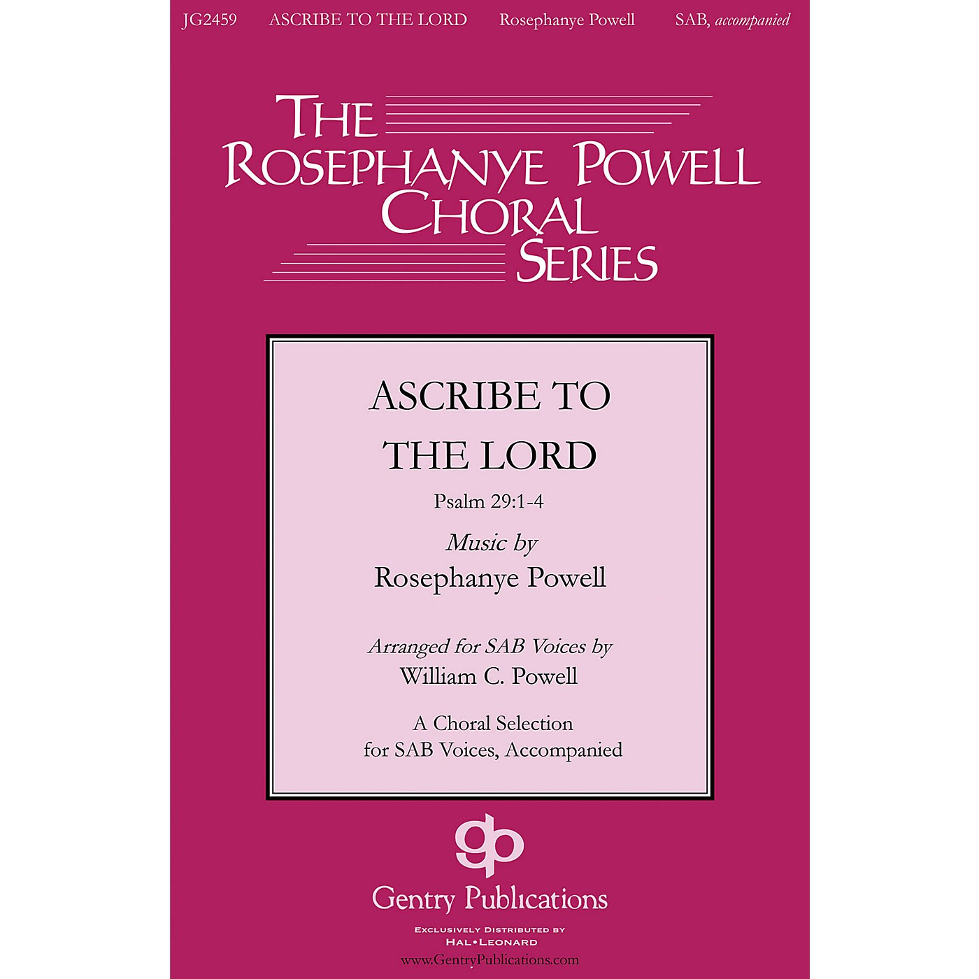 Gentry Publications Ascribe to the Lord Orchestra Composed by Rosephanye Powell thumbnail