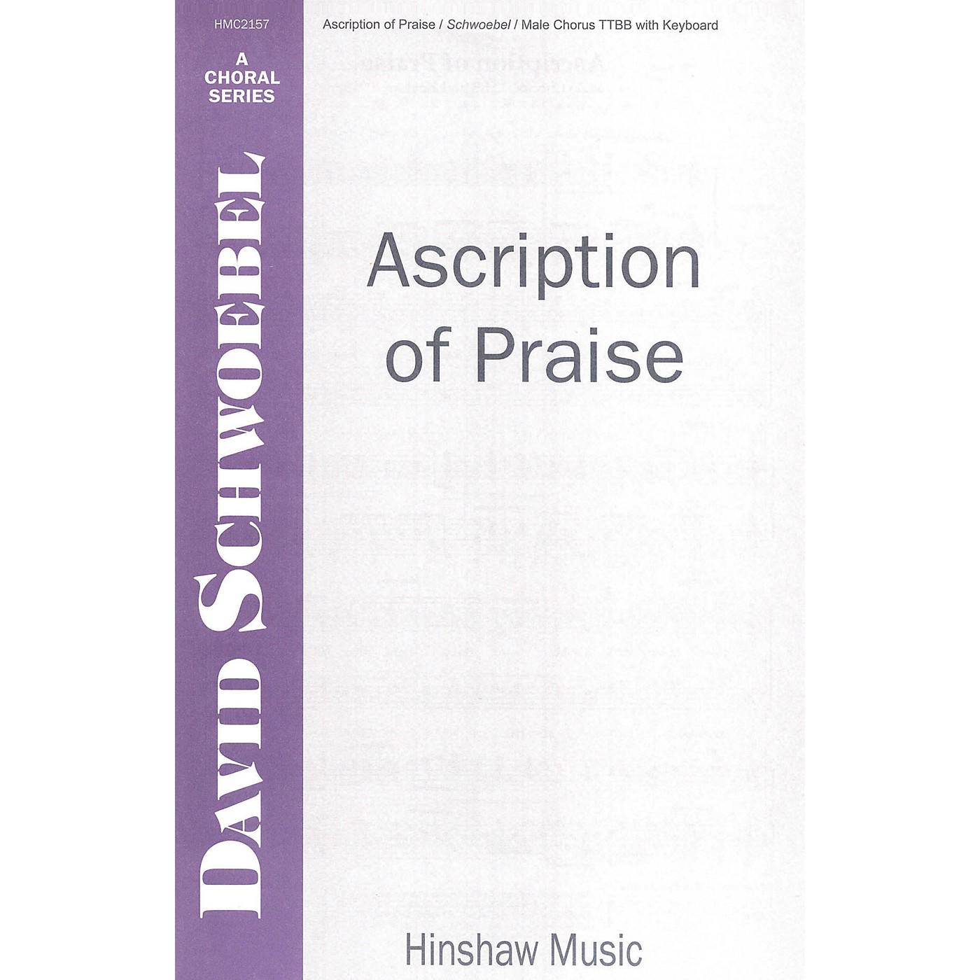 Hinshaw Music Ascription of Praise TTBB composed by David Schwoebel thumbnail