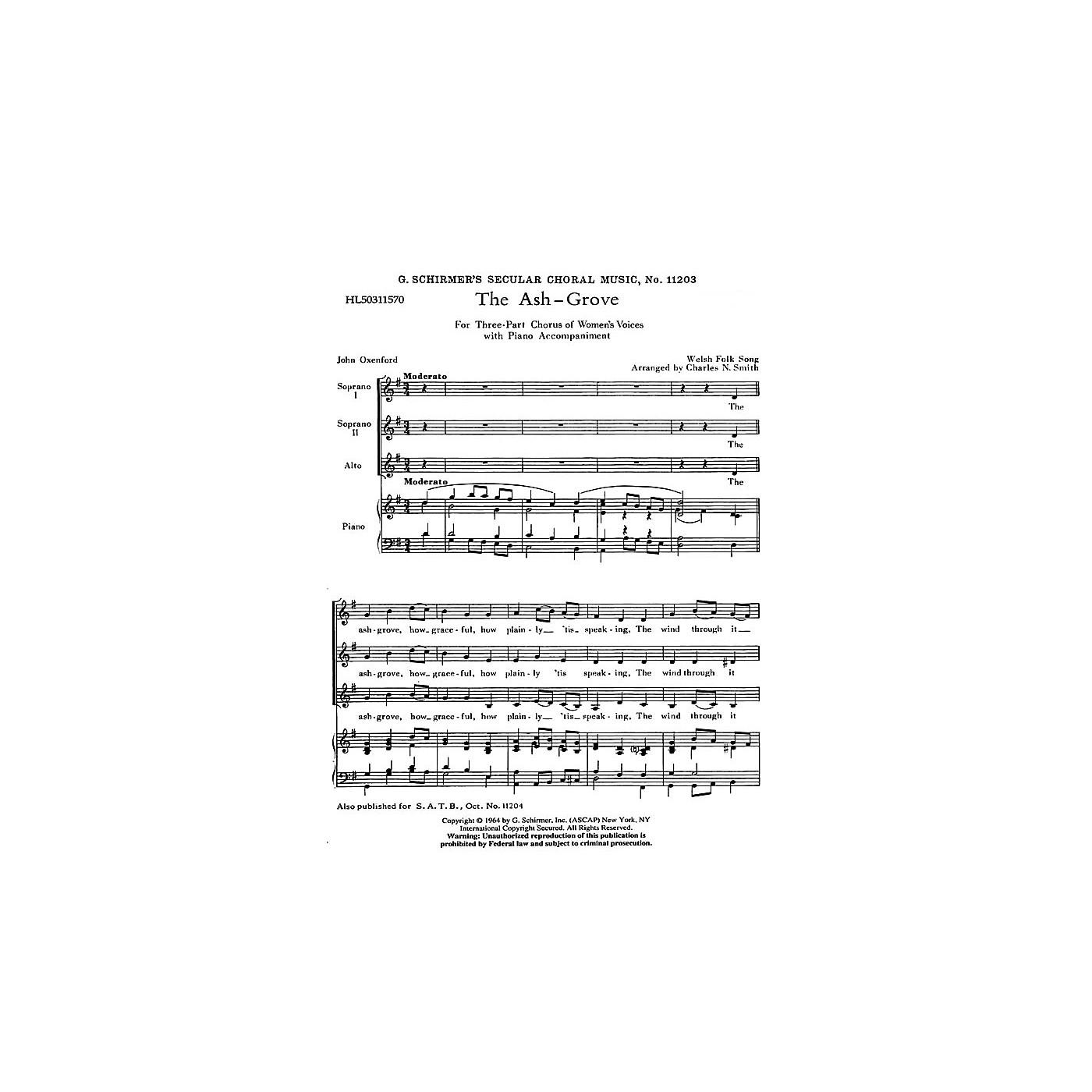 G. Schirmer Ash Grove  Welsh Folk Song SSA composed by Welsh Folk Song thumbnail