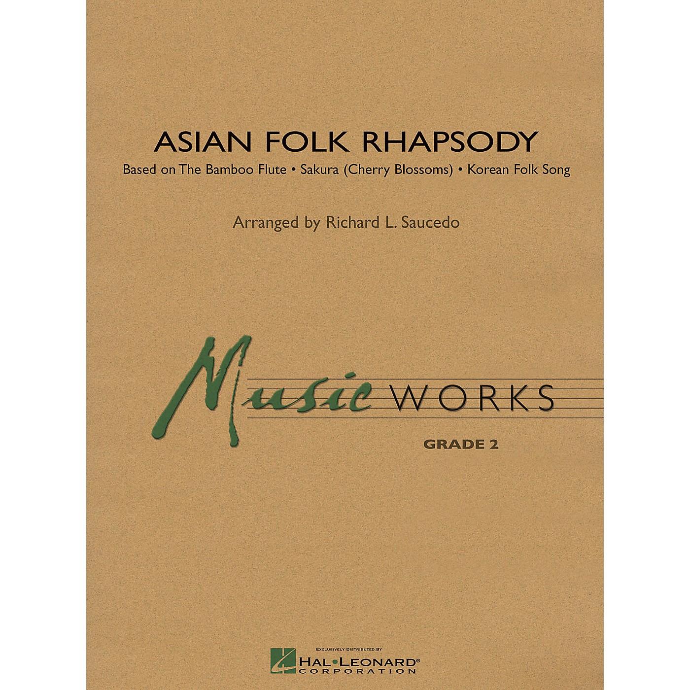 Hal Leonard Asian Folk Rhapsody Concert Band Level 2 Composed by Richard Saucedo thumbnail