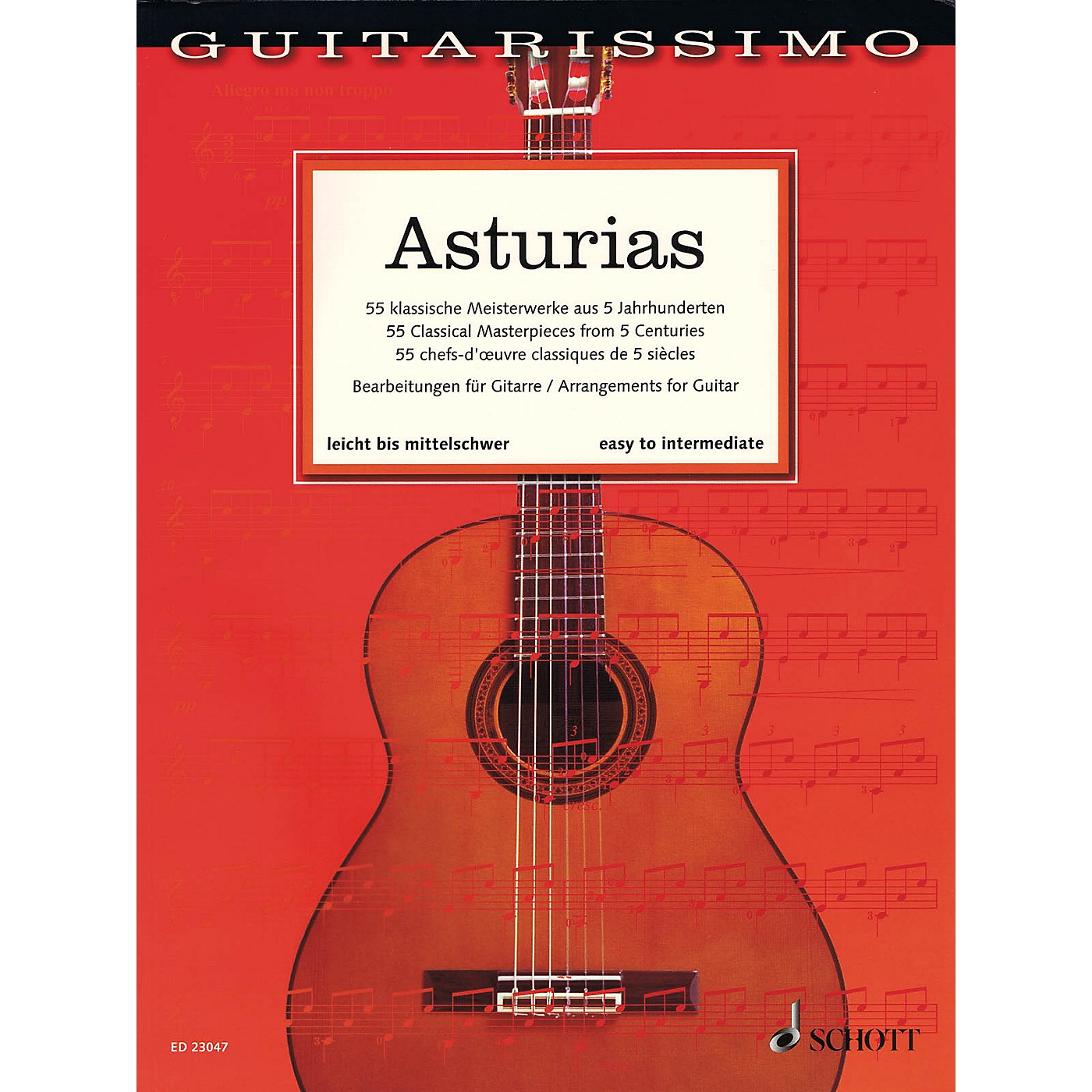 Schott Asturias (55 Classical Masterpieces from 5 Centuries Guitar) Guitar Songbook thumbnail