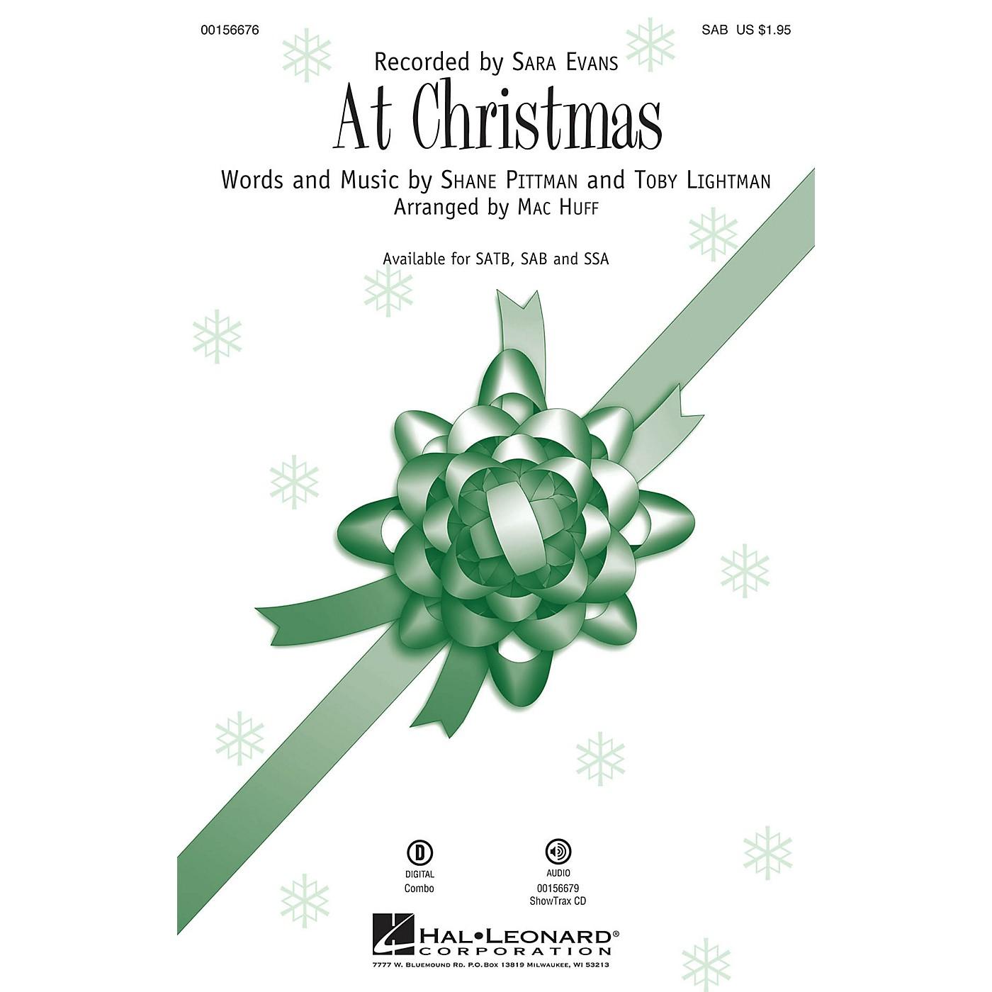 Hal Leonard At Christmas SAB by Sara Evans arranged by Mac Huff thumbnail