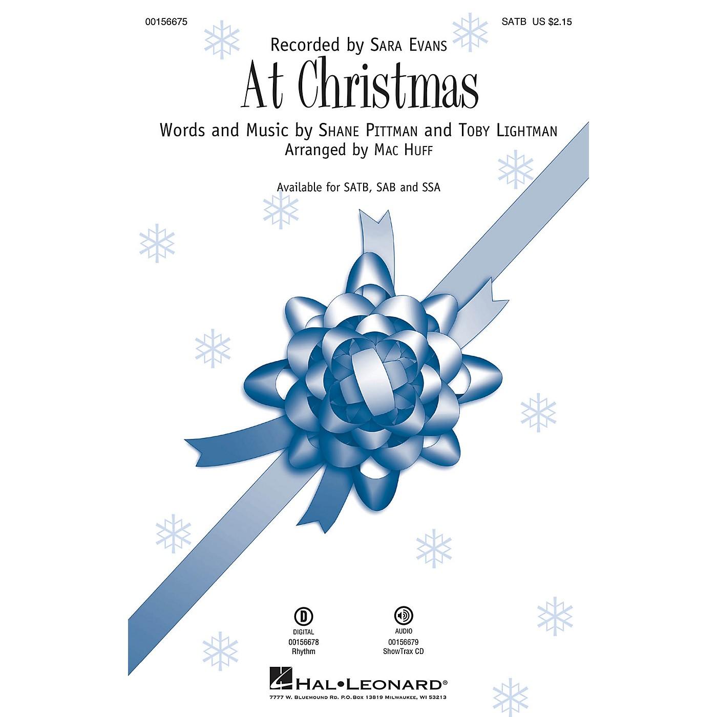 Hal Leonard At Christmas SATB by Sara Evans arranged by Mac Huff thumbnail