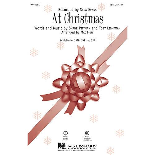 Hal Leonard At Christmas SSA by Sara Evans arranged by Mac Huff thumbnail
