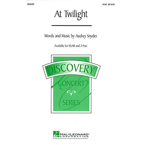 Hal Leonard At Twilight SSAB composed by Audrey Snyder thumbnail