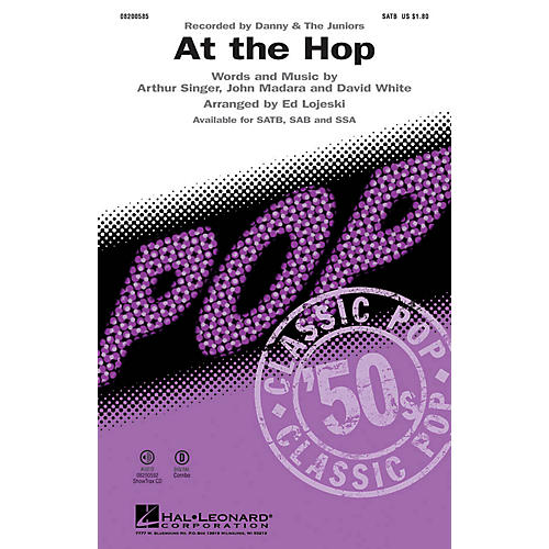 Hal Leonard At the Hop SAB by Danny and the Juniors Arranged by Ed Lojeski thumbnail