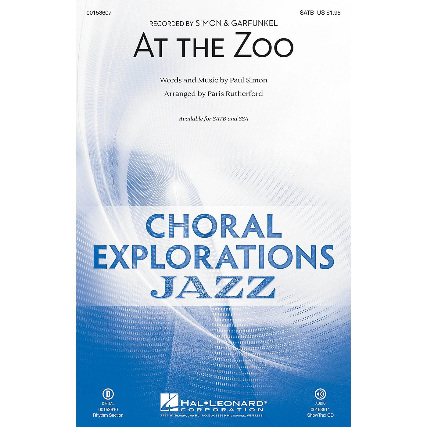 Hal Leonard At the Zoo SATB arranged by Paris Rutherford thumbnail