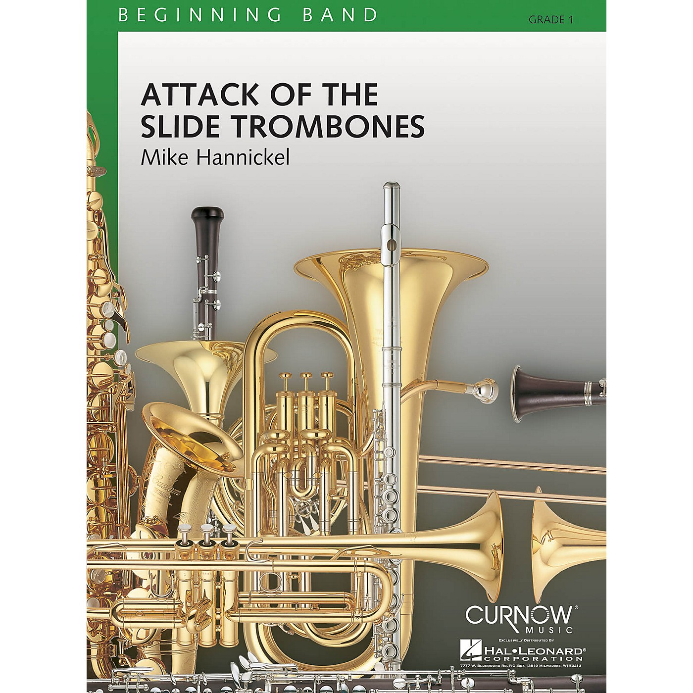 Curnow Music Attack of the Slide Trombones (Grade 1 - Score and Parts) Concert Band Level 1 Composed by Mike Hannickel thumbnail