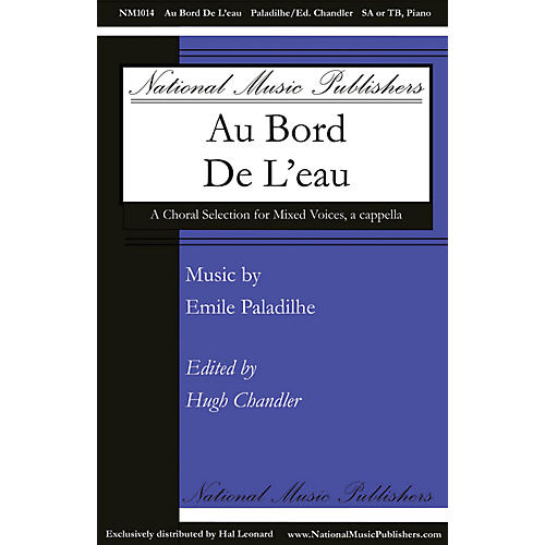 National Music Publishers Au Bord de l'Eau SA composed by Emile Paladilhe thumbnail