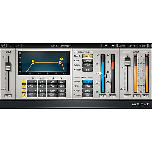 Waves AudioTrack Native Software Plug-In Software Download thumbnail