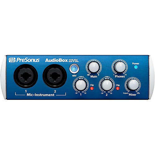 PreSonus Audiobox 22VSL USB 2.0 Recording System thumbnail