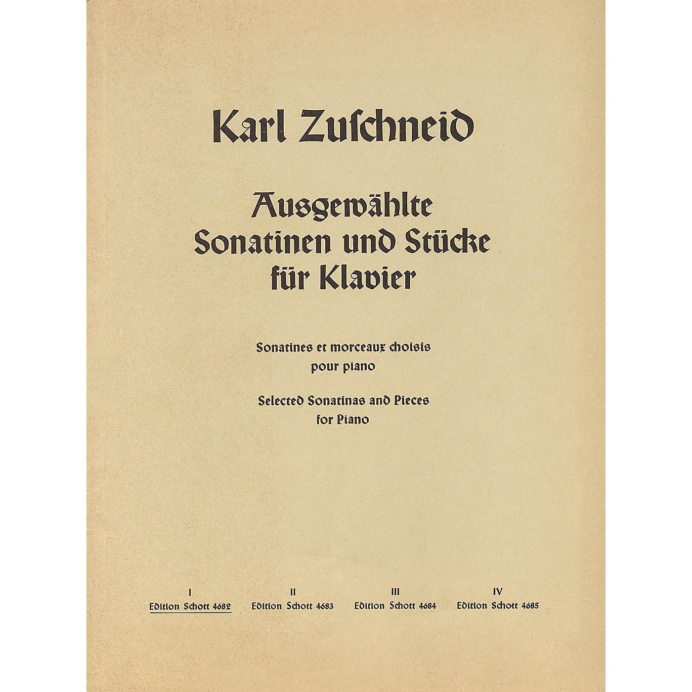 Schott Ausgewählte Sonatinen und Stücke für Klavier (Band 1) Schott Series thumbnail