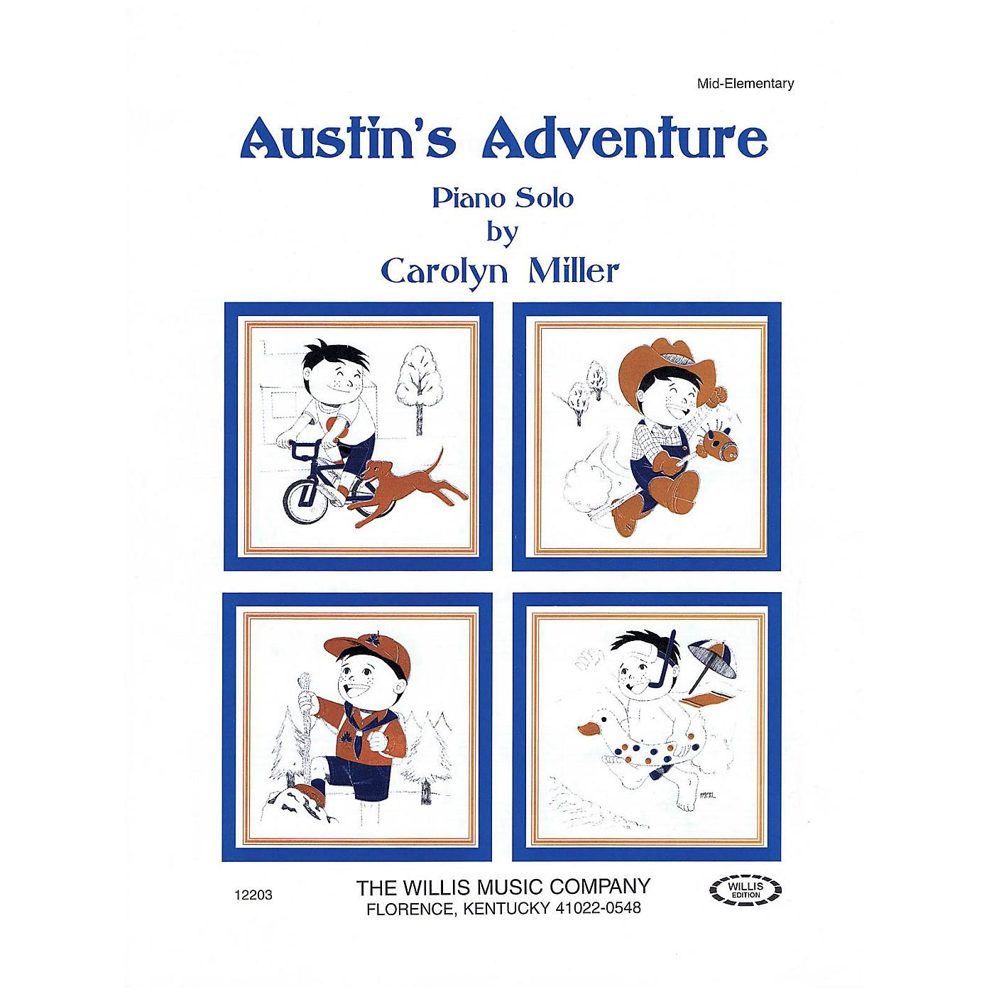 Willis Music Austin's Adventure (Mid-Elem Level) Willis Series by Carolyn Miller thumbnail