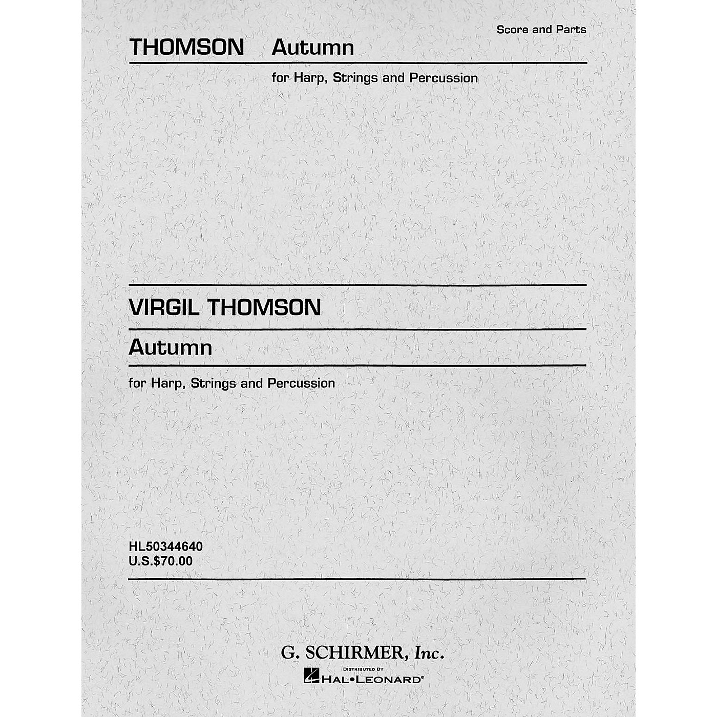 G. Schirmer Autumn (Concertino) (Set of Parts) Orchestra Series Composed by Virgil Thomson thumbnail
