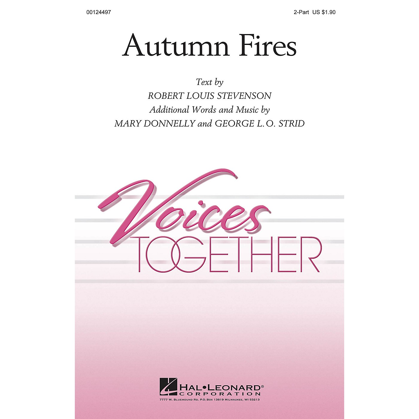Hal Leonard Autumn Fires 2-Part composed by George L.O. Strid thumbnail