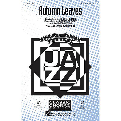 Hal Leonard Autumn Leaves Digital Instrumental Pak Rhyth Arranged by Paris Rutherford thumbnail