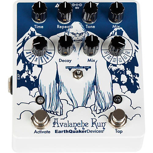 EarthQuaker Devices Avalanche Run V2 Special Edition Attack of the Yeti Reverb/Delay Effects Pedal thumbnail