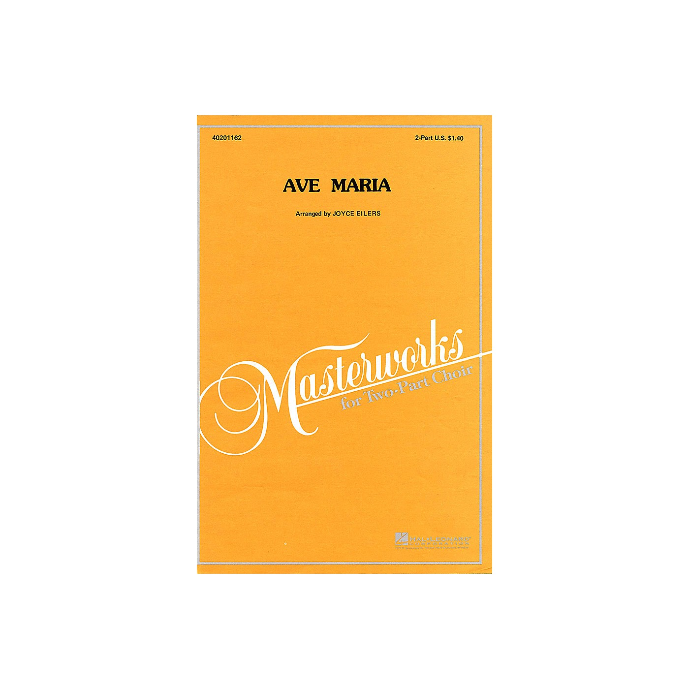 Hal Leonard Ave Maria 2-Part arranged by Joyce Eilers thumbnail