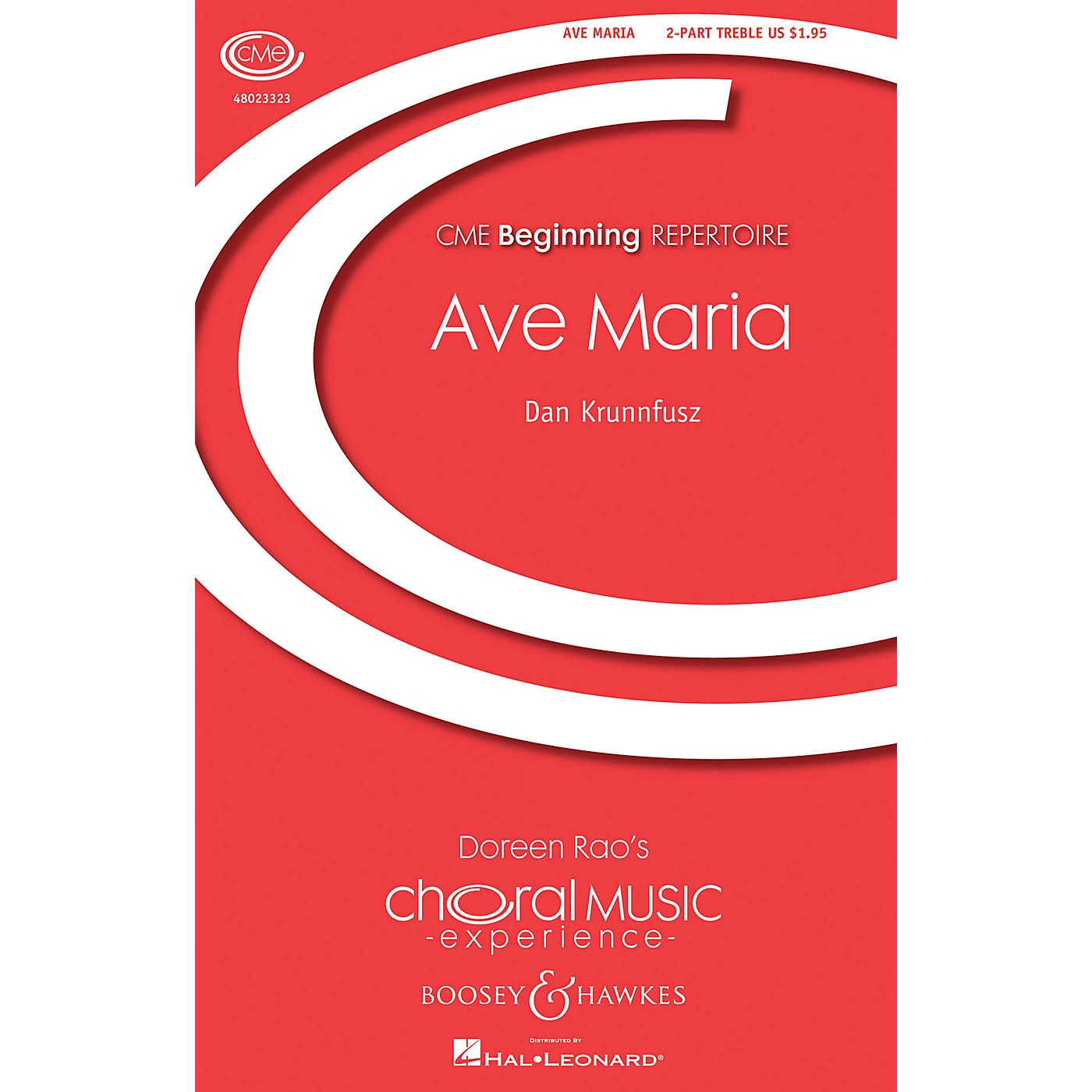 Boosey and Hawkes Ave Maria (CME Beginning SA with. opt. flute and chimes) SA composed by Dan Krunnfusz thumbnail